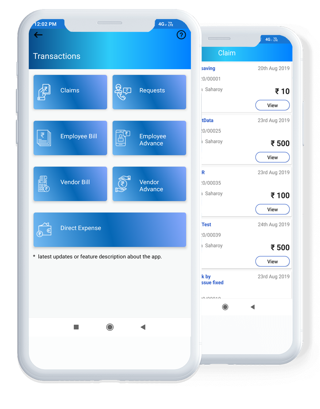Expense Management App Dashboard